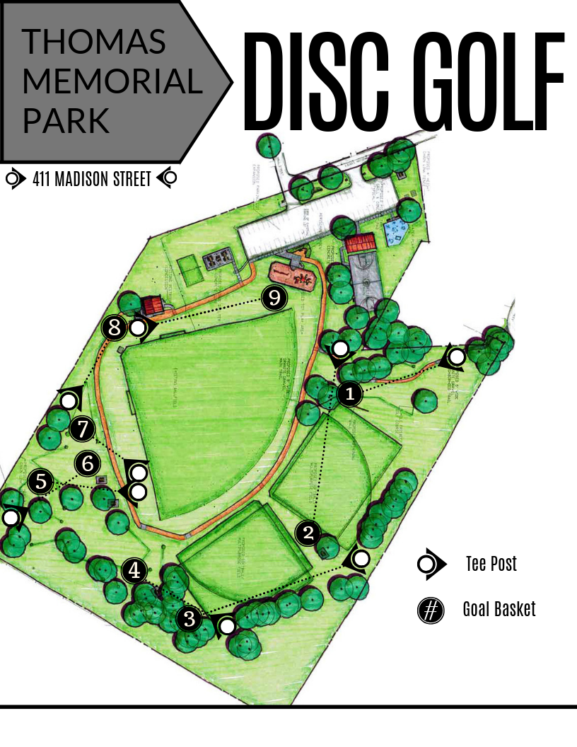 Thomas Disc Golf Course Map