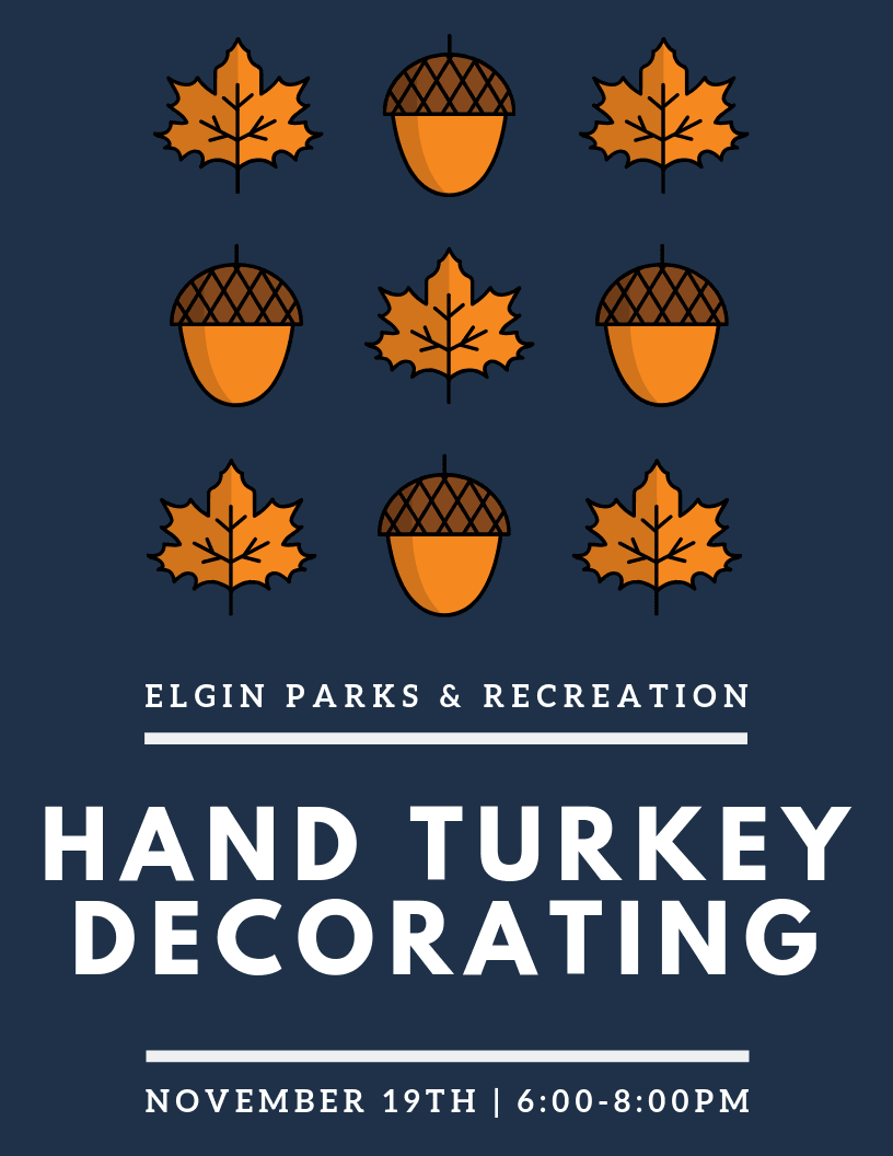 Hand Turkey Decorating Poster