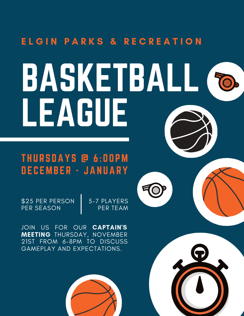 Basketball League Poster