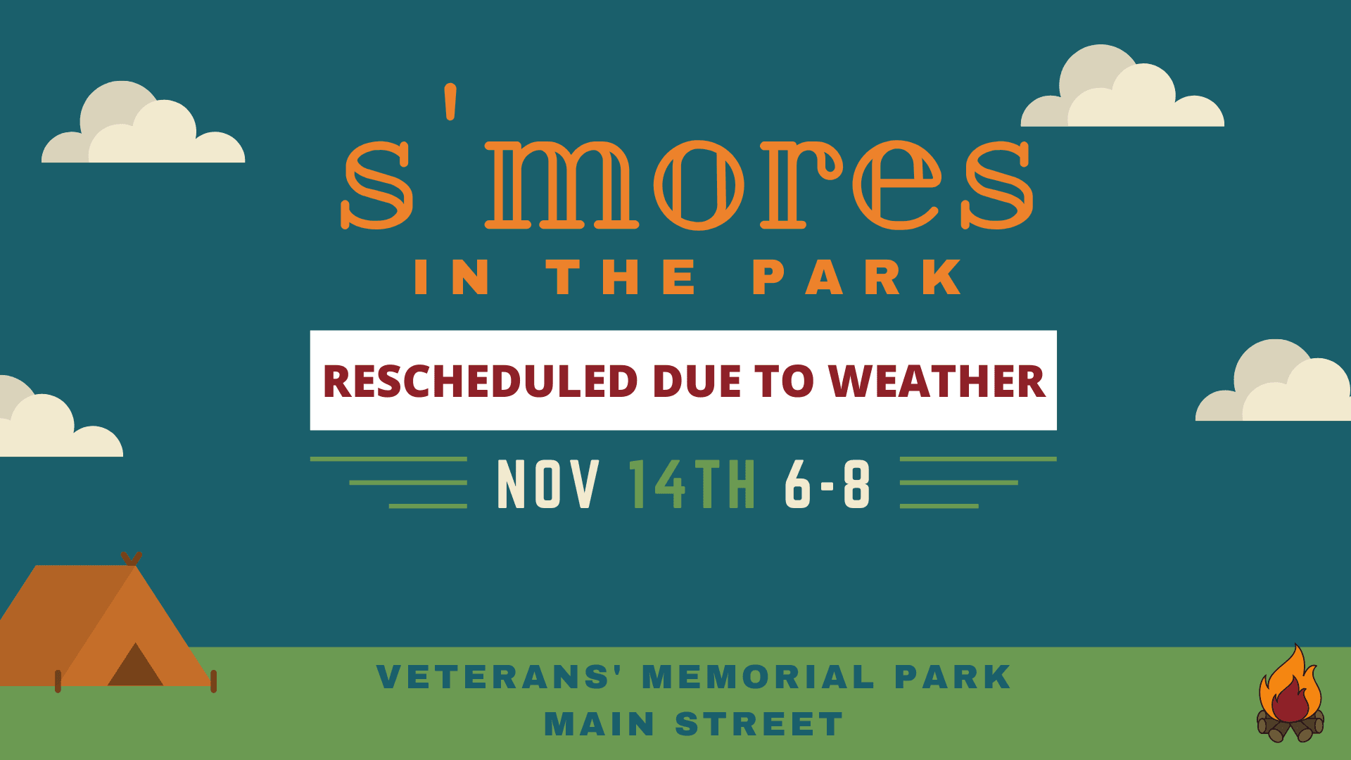 Smores in the Park Event Header