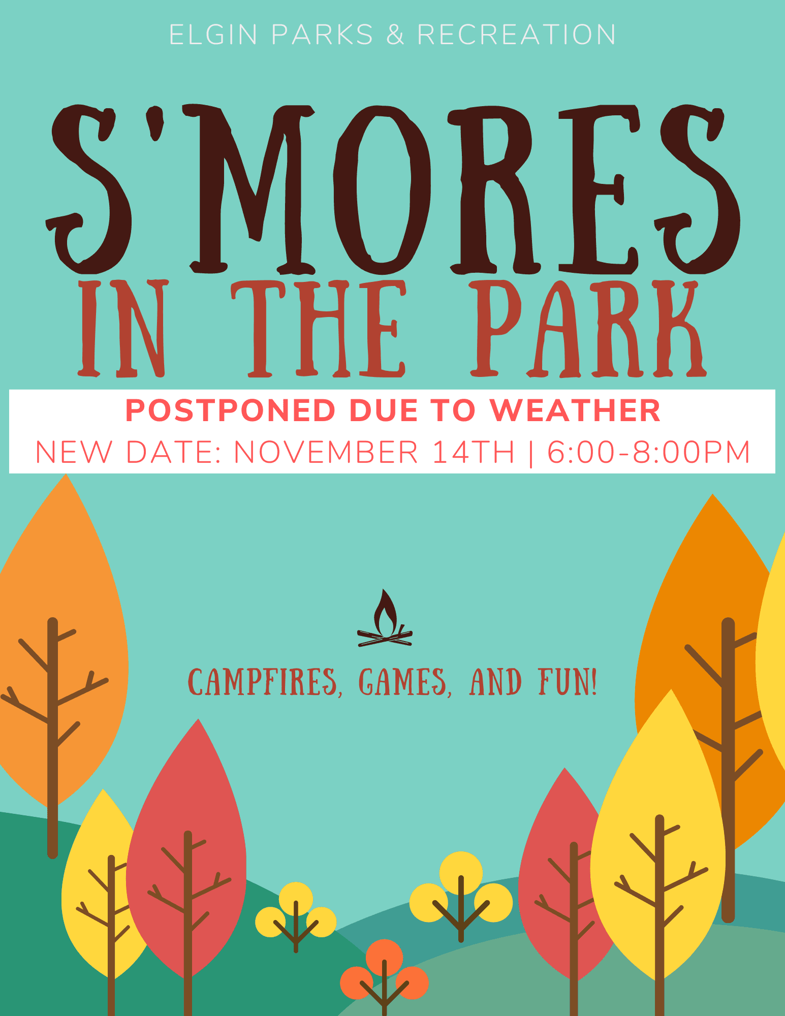 Smores in the Park Poster