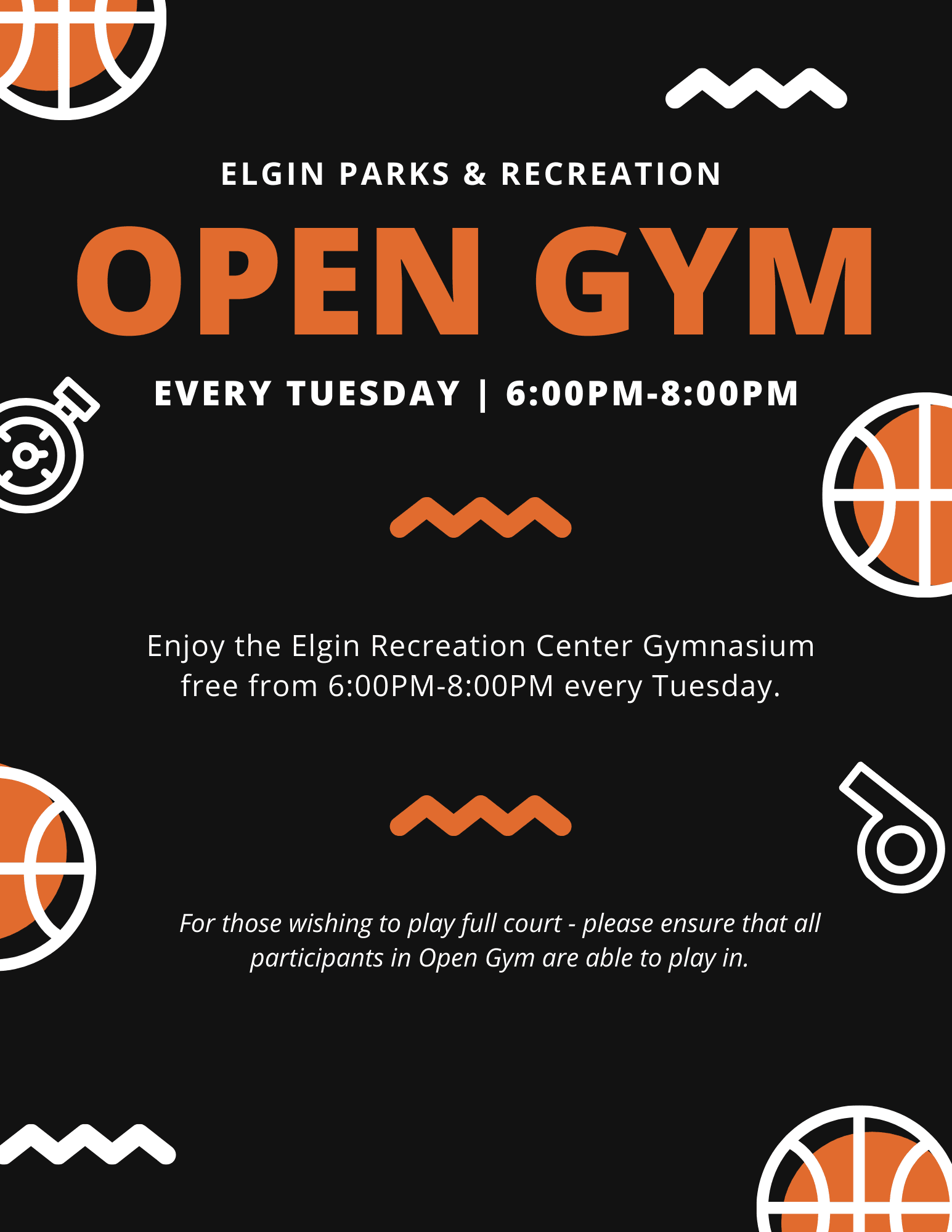 open gym tuesday nights